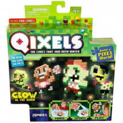 ASMOKIDS- MINI KIT 4 CRÉATIONS GLOW (THeME ZOMBIES)- QIXELS