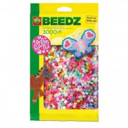 SES CREATIVE Lot de 3000 perles à repasser - Filles