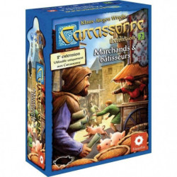 ASMODEE - Carcassonne - Extension 2 Marchands & Bâtisseurs -