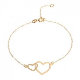 Les Bijoux d'Emma - Bracelet Coeurs Entrecroisés