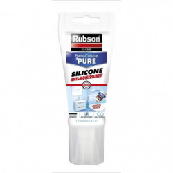 Mastic bain et cuisine Rubson - Tube 150 ml - Transparent