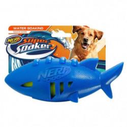 NERFDOG Requin de Football Soaker - Bleu - Pour chien