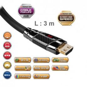 Cble HDMI Monster Black Platinium UHD 3m