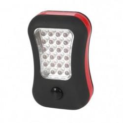 EXPERT LINE Torche plate 2 fonctions 24 + 4 LED noire