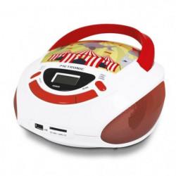 METRONIC 477145 Radio CD enfant style Circus - rouge et blan