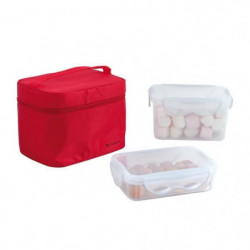 BE NOMAD SEP109R Lunch box 2 boites hermetiques - Rouge