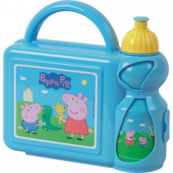 Fun House Peppa Pig ensemble gouter comprenant un sac bandou
