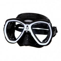 SEAC Masque de plongée Elba - Médium - Noir et blanc