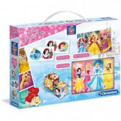 CLEMENTONI  Mini Edukit - Disney Princesses - Dominos, Puzzl