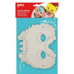 APLI Pochette 6 Masques Animaux a colorier 6 Modeles Assorti