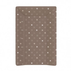 BABYCALIN Matelas a Langer Luxe 50 x 70 cm Etoile Taupe Tois