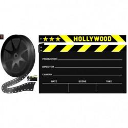 PLAGE Sticker déco ARDOISE - Clap cinéma1 Planche 46x100 cm