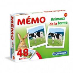 CLEMENTONI Mémo - Les Animaux de la ferme - Jeu de mémorisat