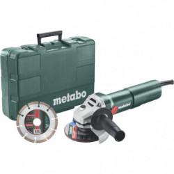 METABO Meuleuse 125 mm W 1100-125 Set Coffret  + diamond cut