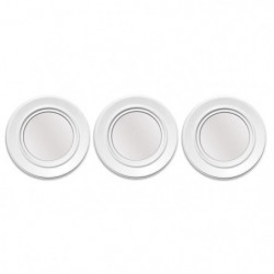 Lot de 3 miroirs ronds abstraits - Ø 25 cm - Blanc