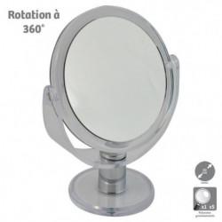 Miroir grossissant HESTEC - Double face - Rotatif à 360°