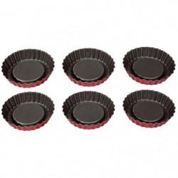 IMF Set de 6 moules a tartelettes Rioja - Ø 10 cm - Rouge et