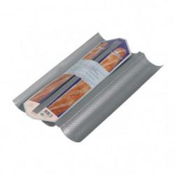 PATISSE Moule 3 baguettes antiadhésif en acier revetu - 38x2