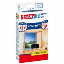 TESA Moustiquaire Comfort pour porte-fenetres - 1,20 m x 2,4