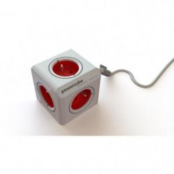 CHACON Multiprise Powercube 4 prises 16A 1,5m rouge