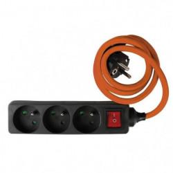 Triplite Multiprise 1x16A 2x6A Interrupteur Terre Protection Enfant 3500W 230 V