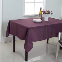 Nappe de table décorative rectangulaire uni effet tissé - 14