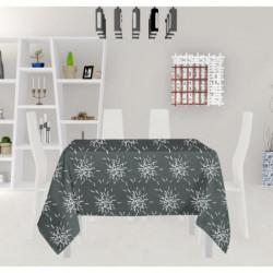 SOLEIL D'OCRE Nappe carrée - Silver - 180X180 cm - Gris