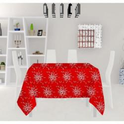 SOLEIL D'OCRE Nappe carrée - Silver - 180X180 cm - Rouge