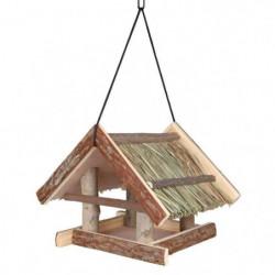 NATURAL LIVING Mangeoire pour oiseaux 25 × 25 × 25 cm nature