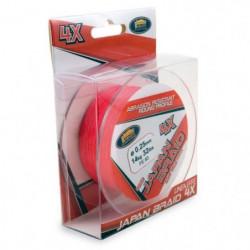 LINEAEFFE Tresse de peche Japan Braid 4X - Rouge - Ø 0,22 mm