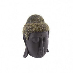 Tete de bouddha - 27 cm - Noir et doré