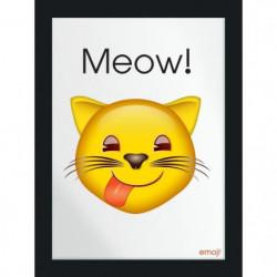 Image imprimée - 30 x 40 cm - Bois - Emoji Chat