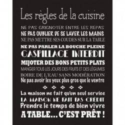 CUISINE Image contrecollée 40x50 cm Les regles de la cuisine
