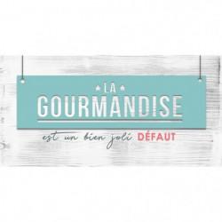 GOURMANDISE Image contrecollée 20X40 cm La gourmandise