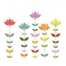 WALL IMPACT Stickers Fleurs - 40x33x1 cm - Vinyle calandré m
