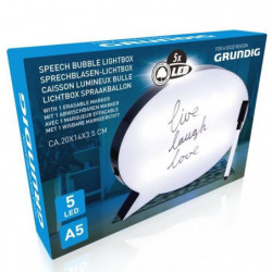 Bulle lumineuse a messages - Format A5 - 5 LED - 20 x 14 x 3