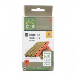 CAO CAMPING Lot de 20 Allumettes briquettes - 5,5 cm