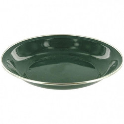 HIGHLANDER Assiette a Soupe Email Deluxe Vert
