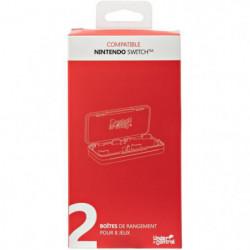 2 Boîtes de jeux avec 4 compartiments pour Nintendo Switch P