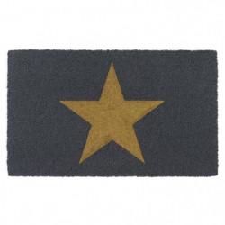 Paillasson brosse RUCO a motif étoile doré 45x75cm - Fibre d
