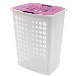 CURVER Coffre a linge My Style - 60 L - Blanc et violet