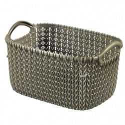 CURVER Panier de rangement rectangulaire 3 L - Aspect tricot