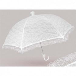 PERLETTI - Parapluie de Mariage-  Automatique - Dentelle Bla