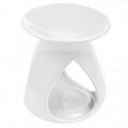 Brûle-parfum en céramique - Design triptyque - Blanc