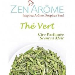 ZEN'AROME Cire Parfumée Thé Vert - Parfum d'Ambiance - Pour