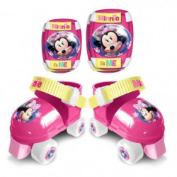 DISNEY MINNIE Set patins a roulettes + coudieres + genouille