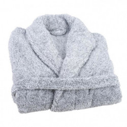 JULES CLARYSSE Peignoir Soft - S/M - 100% polyester - Gris