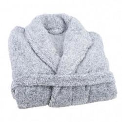 JULES CLARYSSE Peignoir Soft - L/XL - 100% polyester - Gris
