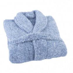 JULES CLARYSSE Peignoir Soft - L/XL - 100% polyester - Bleu