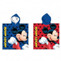 MICKEY Poncho Microfibre - 55 x 110 cm - Bleu